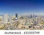 panoramic shot of tel aviv and... | Shutterstock . vector #631503749