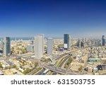 panoramic shot of tel aviv and... | Shutterstock . vector #631503755