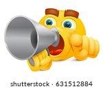 emoj yellow cartoon character... | Shutterstock .eps vector #631512884
