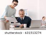 attractive brunette standing... | Shutterstock . vector #631513274