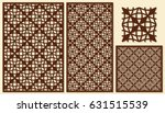set of decorative panels laser... | Shutterstock .eps vector #631515539