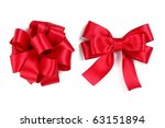 gift bow isolated on white | Shutterstock . vector #63151894