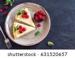homemade cheesecake with fresh... | Shutterstock . vector #631520657