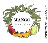 mango tree vintage design... | Shutterstock .eps vector #631527071