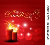 beautiful red color diwali... | Shutterstock .eps vector #63152800