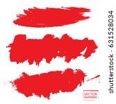 ink brush strokes | Shutterstock .eps vector #631528034