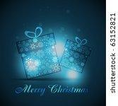vector christmas gift box on...   Shutterstock .eps vector #63152821