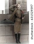 Pretty Young Girl In A Soviet...