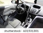 interior inside car  driver's... | Shutterstock . vector #631531301