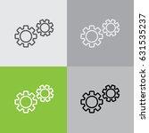 web line icon. gears | Shutterstock .eps vector #631535237
