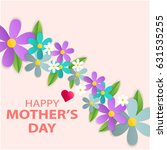 mothers day greeting card with... | Shutterstock .eps vector #631535255