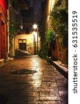 old city street  stone stairway ... | Shutterstock . vector #631535519