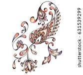 watercolor paisley design   Shutterstock . vector #631539299