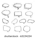 doodle bubble talk   Shutterstock .eps vector #63154234