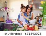 attractive brunette female with ... | Shutterstock . vector #631543025