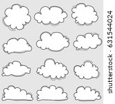 hand drawn clouds  set. | Shutterstock .eps vector #631544024