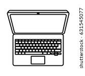 computer laptop isolated icon | Shutterstock .eps vector #631545077