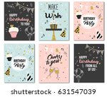 happy birthday to you from all... | Shutterstock .eps vector #631547039