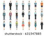 young men and women in flat...   Shutterstock .eps vector #631547885