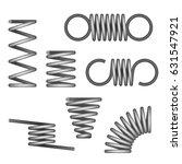 spiral flexible spring   Shutterstock .eps vector #631547921