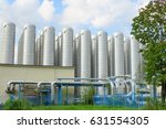 district heating storage tanks... | Shutterstock . vector #631554305