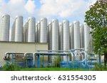 district heating storage tanks... | Shutterstock . vector #631554305