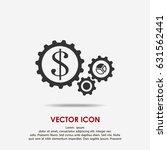 dollar gears icon | Shutterstock .eps vector #631562441