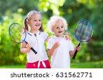 active preschool girl and boy... | Shutterstock . vector #631562771