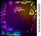 invitation card on happy summer ...   Shutterstock .eps vector #631563005