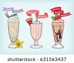 milkshake design vector   Shutterstock .eps vector #631563437