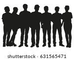 crowd of people vector... | Shutterstock .eps vector #631565471