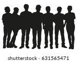 crowd of people vector... | Shutterstock .eps vector #631565471