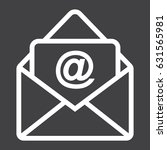 email line icon  envelope and...