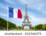 french flag flying in bright... | Shutterstock . vector #631566374
