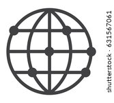 worldwide line icon  globe and... | Shutterstock .eps vector #631567061
