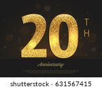 20th anniversary decorated... | Shutterstock .eps vector #631567415