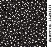 scattered geometric simple... | Shutterstock .eps vector #631568681