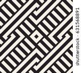 interlacing lines maze lattice. ... | Shutterstock .eps vector #631568891