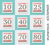 anniversary logo's collection.... | Shutterstock .eps vector #631569605