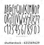 alphabet set straight lines... | Shutterstock .eps vector #631569629