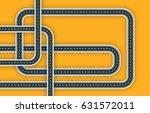 modern arrow roads map of... | Shutterstock . vector #631572011