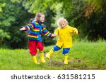 little boy and girl play in... | Shutterstock . vector #631581215