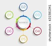 modern abstract 3d infographic... | Shutterstock . vector #631581341