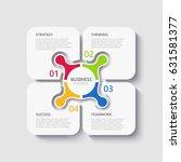 modern 3d infographic template... | Shutterstock . vector #631581377