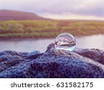 Magic Glass Ball On Old Stones...