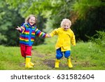 little boy and girl play in... | Shutterstock . vector #631582604