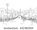 park graphic black white bench... | Shutterstock .eps vector #631583504