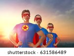 mother  father and their... | Shutterstock . vector #631586489