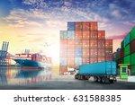 logistics import export... | Shutterstock . vector #631588385