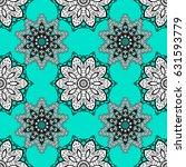 white pattern on blue... | Shutterstock .eps vector #631593779
